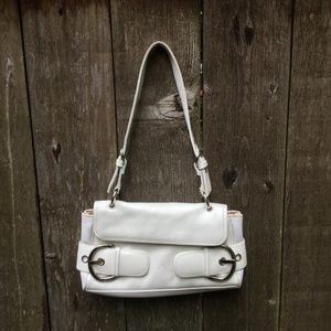 Franco Sarto White Shoulder Bag